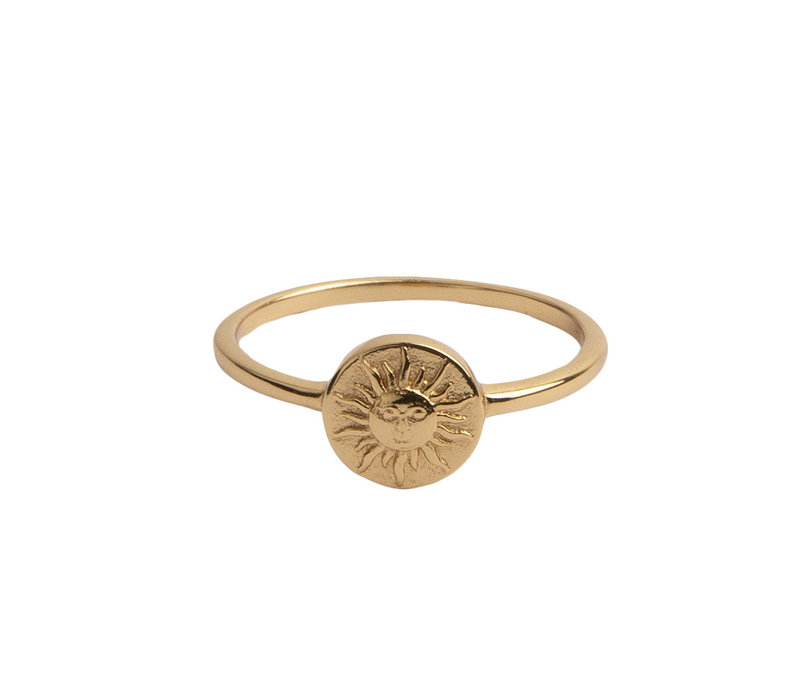 Ring Coin Sun plated