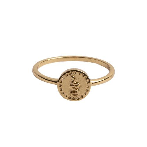 Ring Coin Snake 18K gold