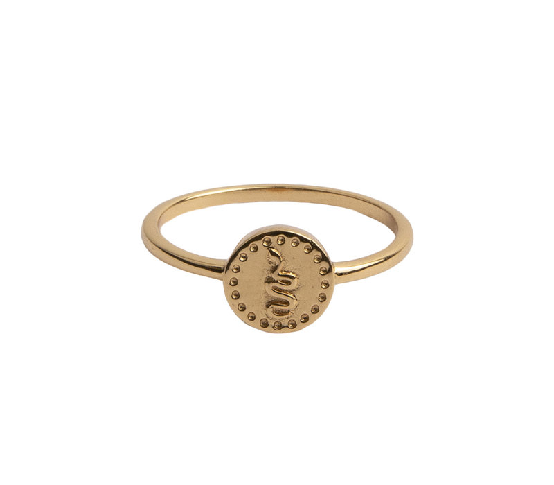 Ring Coin Snake 18K gold