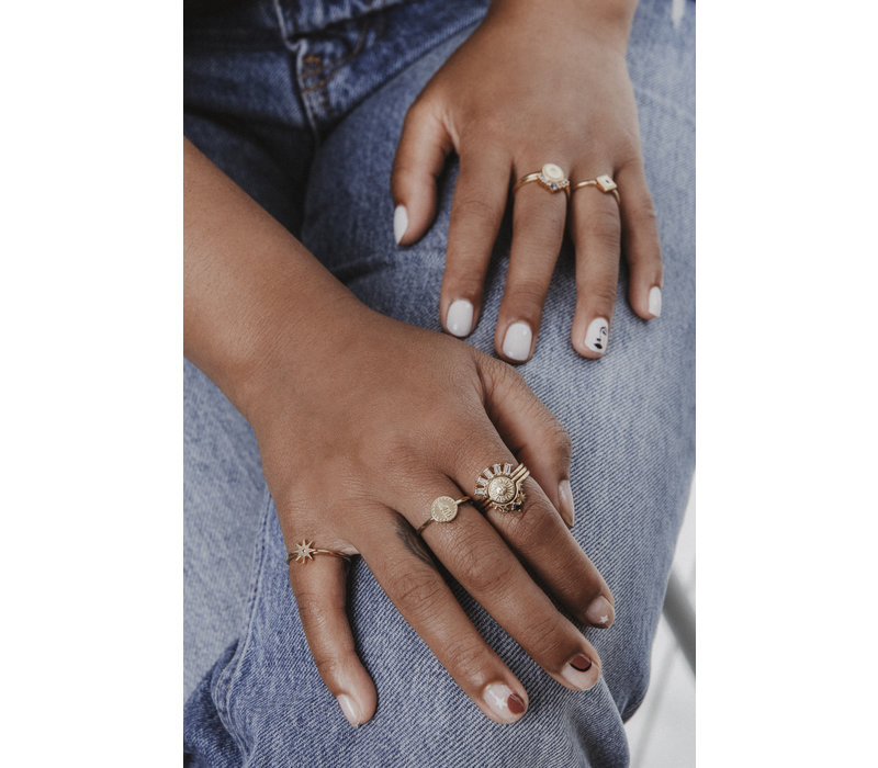 Ring Munt Slang 18K goud