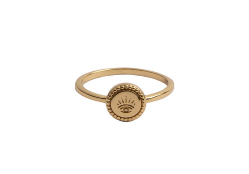All the Luck in the World Magique Goldplated Ring Coin Eye