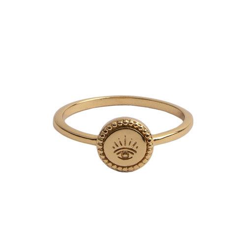 Ring Coin Eye 18K gold