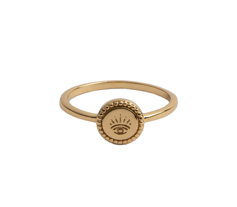 Magique Goldplated Ring Coin Eye