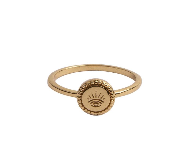 Ring Munt Oog 18K goud