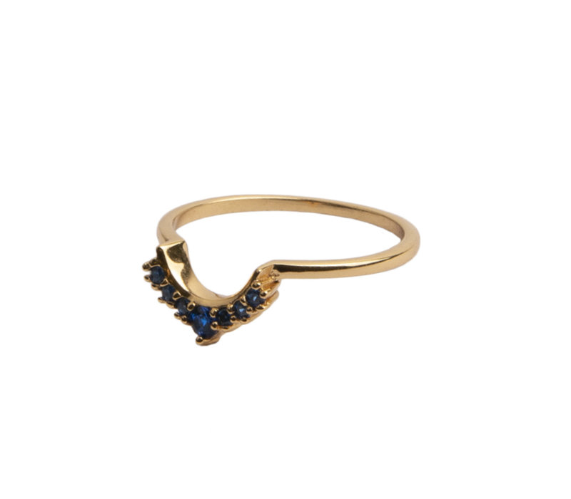 Ring Crown Blue 18K gold