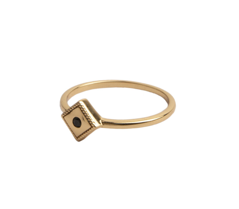 Ring Rhomb Black 18K gold