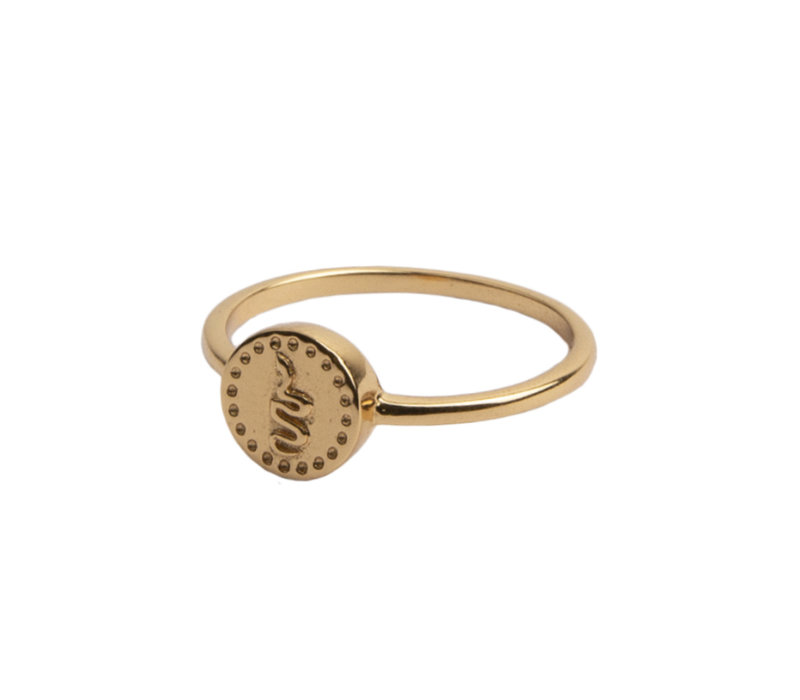 Magique Goldplated Ring Coin Snake