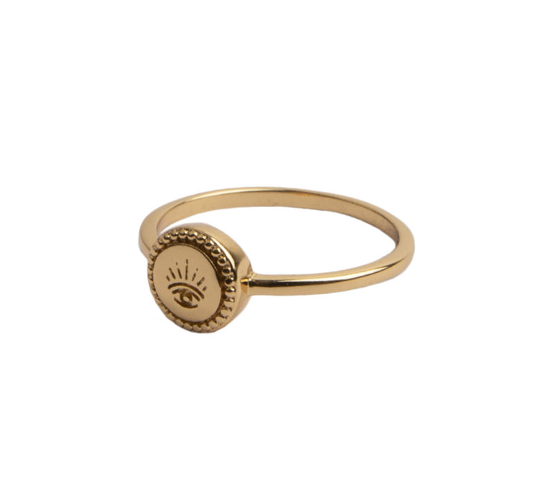 Ring Coin Eye plated