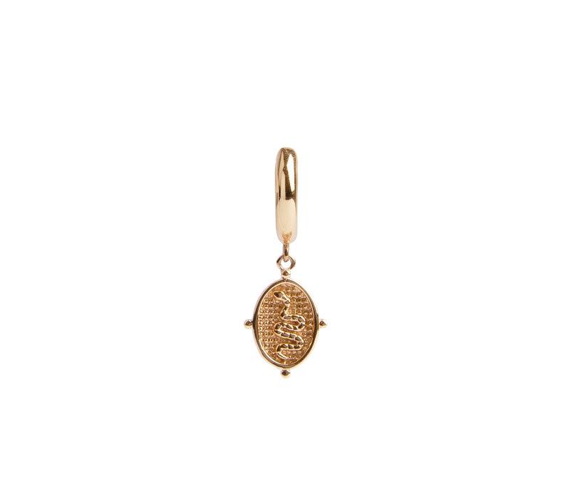 Charm Goldplated Oorbel Slang Ovaal