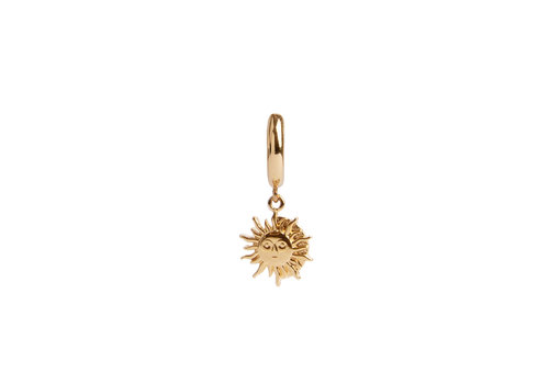 All the Luck in the World Charm Goldplated Oorbel Zon Cirkel