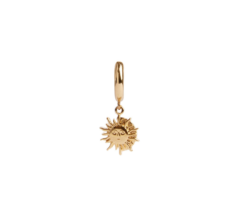 Oorbel Zon Cirkel 18K goud