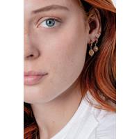 Charm Goldplated Earring Sun Circle