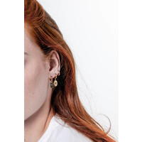 Earring Diamond Oval 18K gold