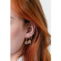 Bold Goldplated Earring Scorpio Circle Black
