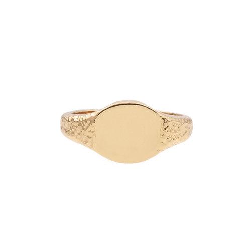 Chérie Goldplated Ring Zegel Ovaal