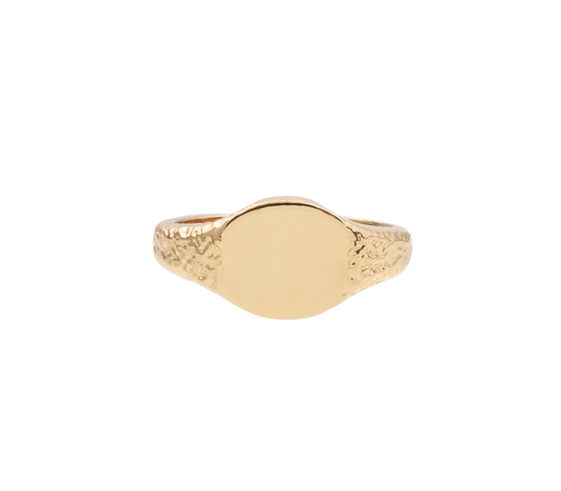 Ring Signet Oval plated
