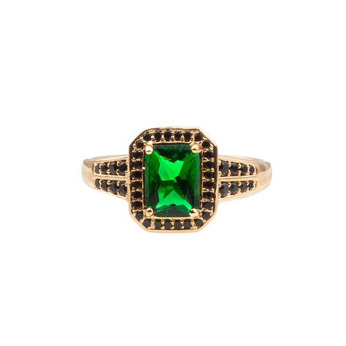 Ring Rectangle Green Black