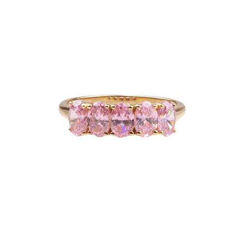Chérie Goldplated Ring Ovals Light Pink