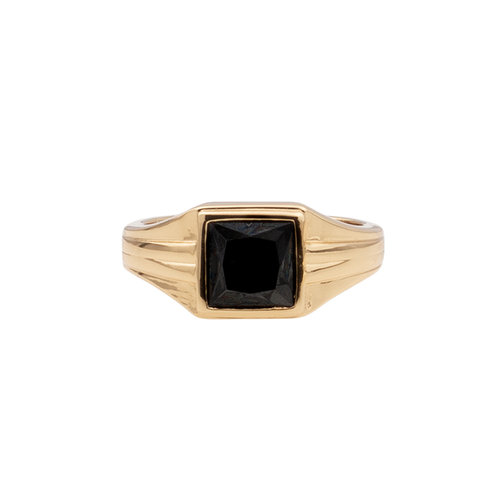 Ring Vierkant Zwart 18K gold