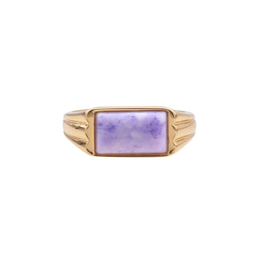 Ring Rectangle Marble Lilac