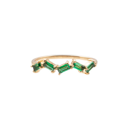 Ring Zigzag Groen 18K gold
