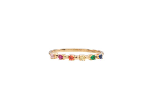 All the Luck in the World Chérie Goldplated Ring Stippen Multi