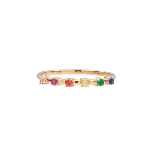 Ring Stippen Multi 18K gold