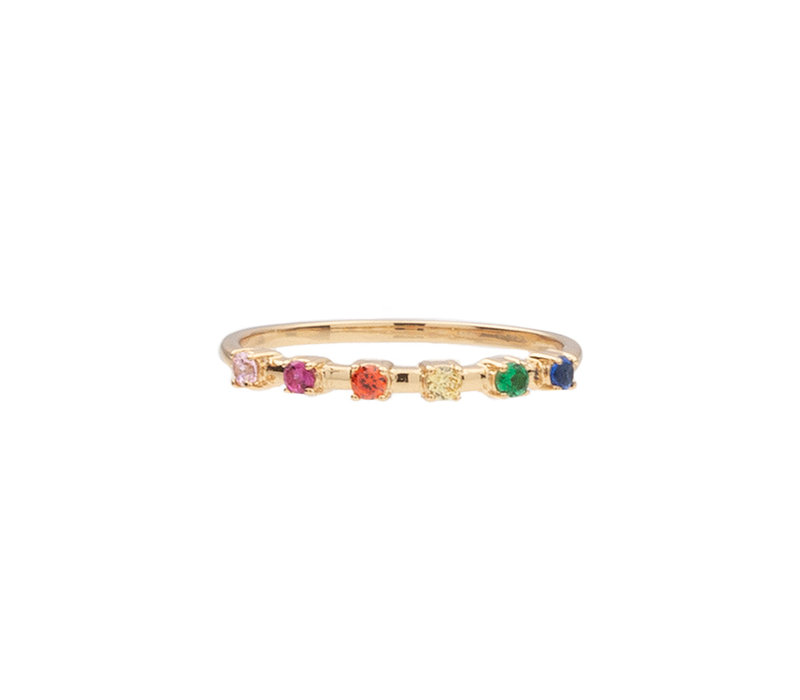Chérie Goldplated Ring Dots Multi