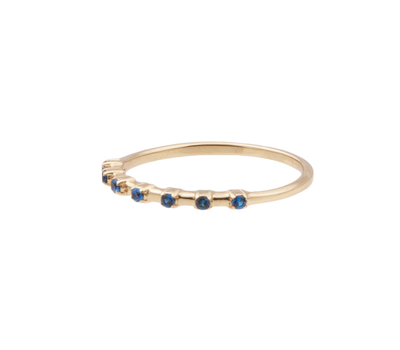Chérie Goldplated Ring Dots Blue