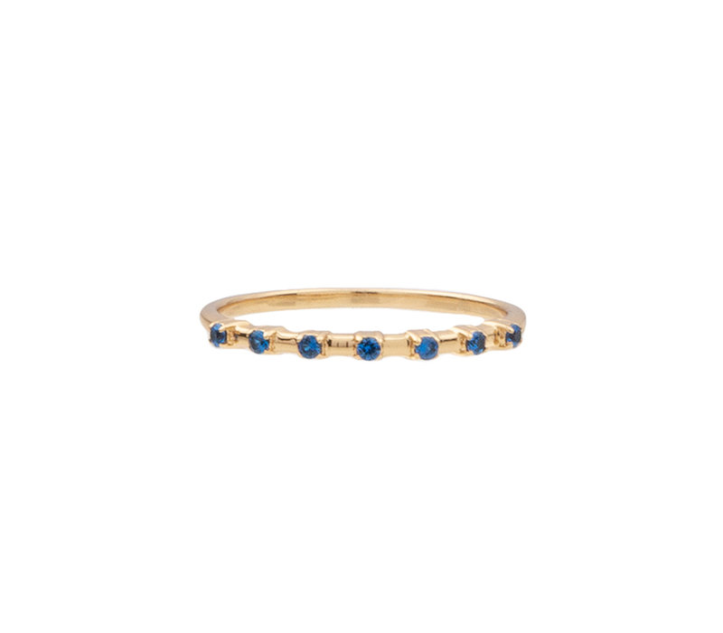 Chérie Goldplated Ring Stippen Blauw
