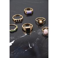 Ring Vierkant Zwart 18K gold