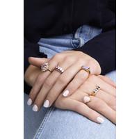 Ring Ovaal Marmer Licht Roze 18K gold