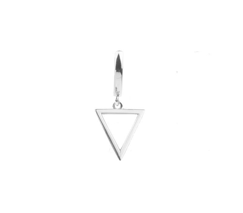 Oorbel Open Driehoek zilver