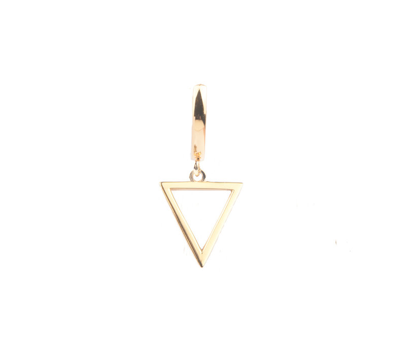 Souvenir Goldplated Oorbel Open Driehoek