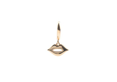 All the Luck in the World Souvenir Goldplated Earring Lips