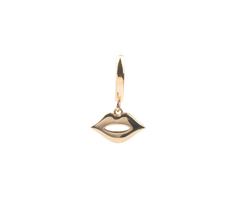 Souvenir Goldplated Earring Lips