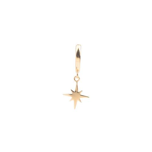 Souvenir Goldplated Oorbel Starburst