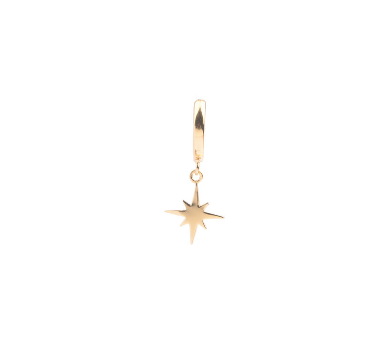 Earring Star Burst plated