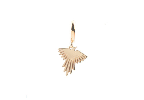 All the Luck in the World Souvenir Goldplated Earring Eagle