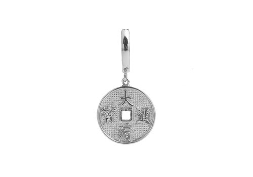 All the Luck in the World East Silverplated Earring Lucky Coin