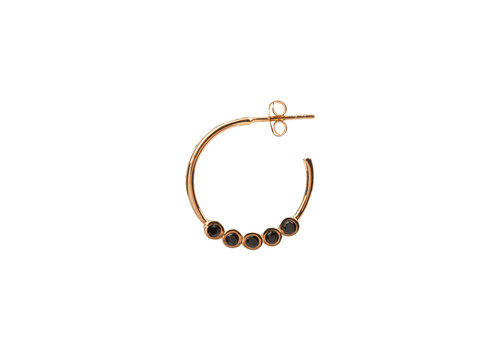 All the Luck in the World Bliss Goldplated Earring Creole big Black
