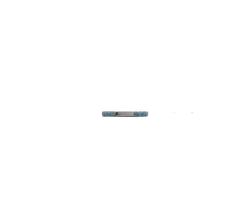 Bliss Silverplated Oorbel Bar Turquoise