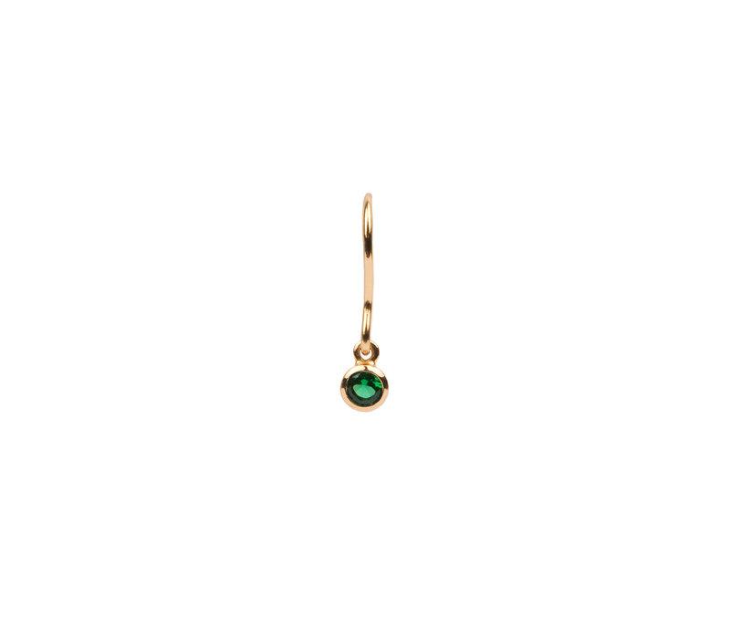 Oorbel Hook Emerald groen 18K goud
