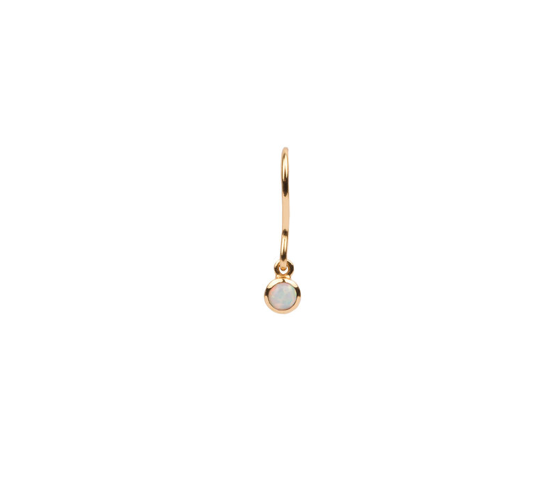 Earring Hook White 18K gold