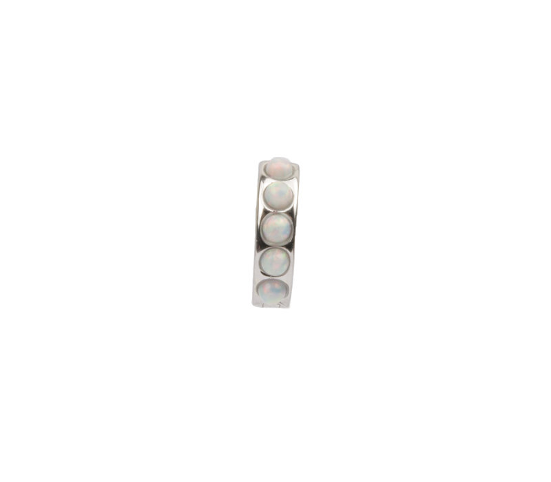 Bliss Silverplated Creole thick White
