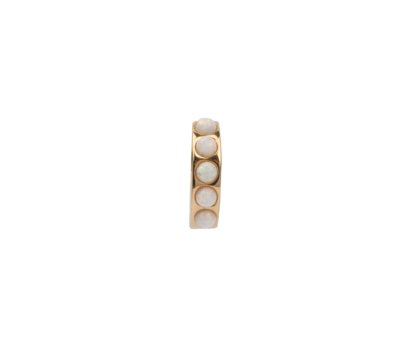 Creole thick White 18K gold