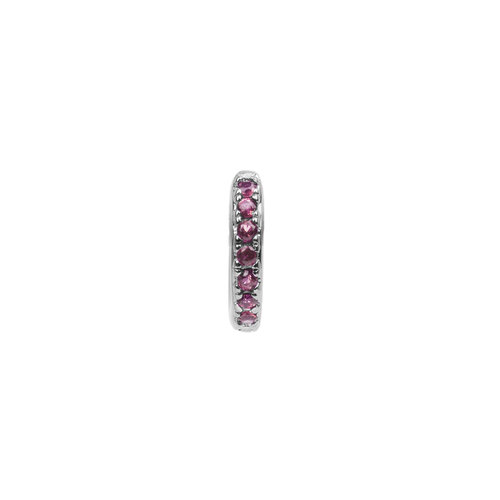 Bliss Silverplated Earring Creole Ruby pink