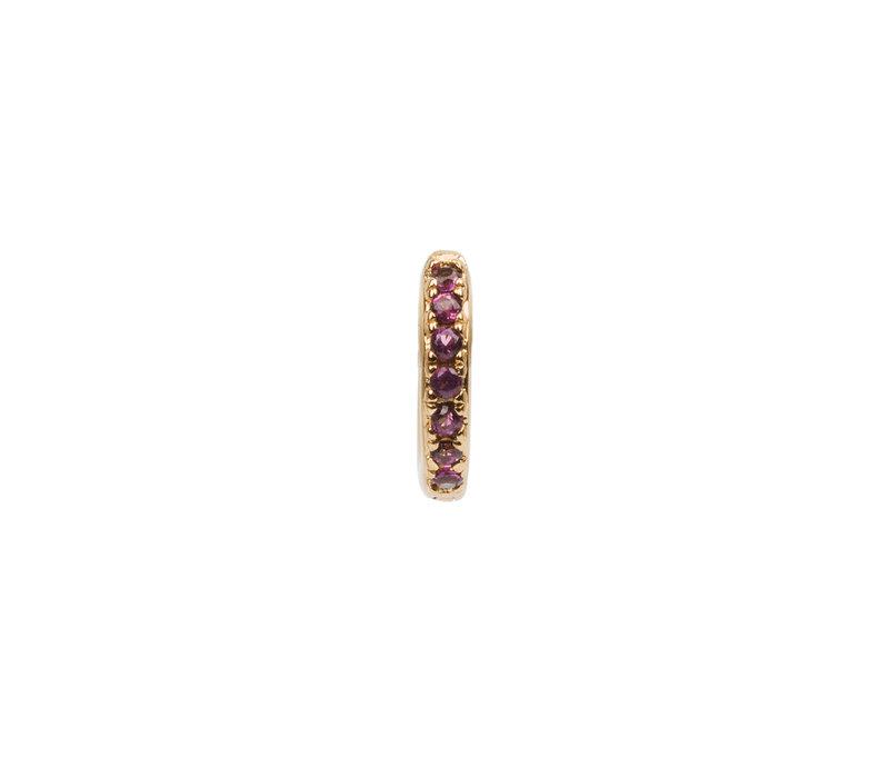 Bliss Goldplated Oorbel Creool Ruby roze