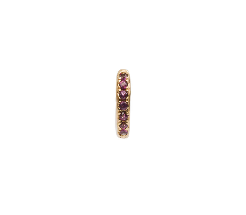 Earring Creole Ruby pink 18K gold