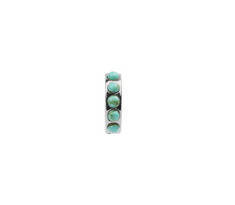 Creool Breed Turquoise zilver